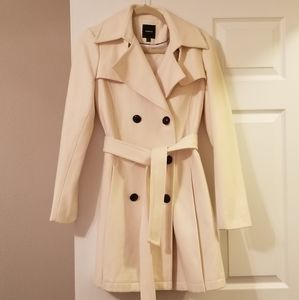 Ivory Double Brested Express Coat